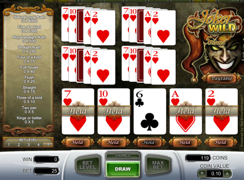 slot games free play online joker poker